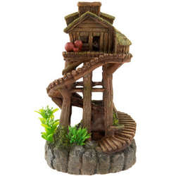 Tree House Aquarium Ornament