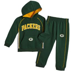 Toddler's Green Bay Packers Fleece Hoodie Sweatshirt and Pants