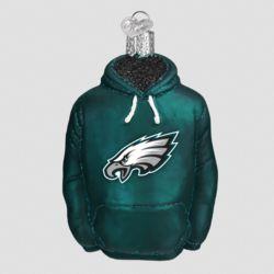 Philadelphia Eagles Hand Blown Glass Hoodie Ornament