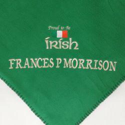 Proud To Be Irish Personalized Fleece Blanket