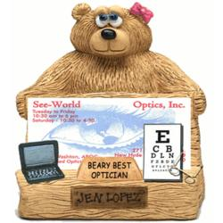 Personalized Business Card Holder for Optician