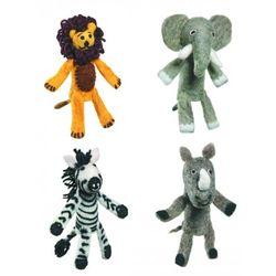 Safari Animal Felt Finger Puppets