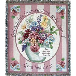 Personalized Grandmother Card Throw