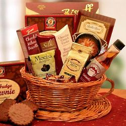 Deluxe Coffee Cup Gift Basket