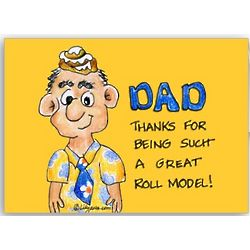 Roll Model Father's Day Card