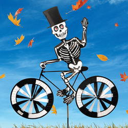 Spooky Spinner Skeleton on Bike