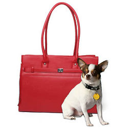 Bark-n-Bag Monaco Pet Tote in Red