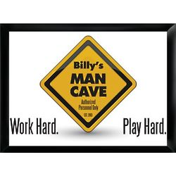 Personalized Work Hard Play Hard Pub Sign