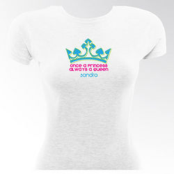 Queen Bee Personalized Flirty Gal Fitted T-Shirt