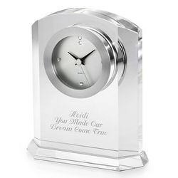 Engraved Optical Crystal Clock