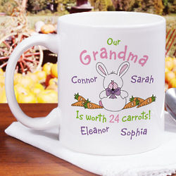 Personalized Worth 24 Carrots Coffee Mug