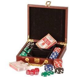 Personalized Rosewood Finish Poker Set