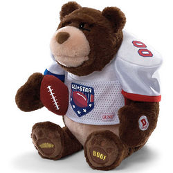 Animated Plush Gridiron Football Fanatic Bear