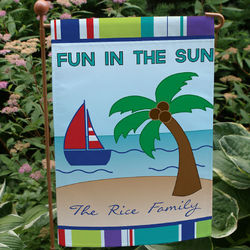 Personalized Summer Fun Garden Flag