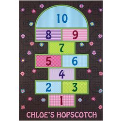 Personalized Flower and Swirl Hopscotch Playmat