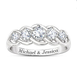 Love of a Lifetime Diamonesk Personalized Anniversary Ring