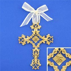 50th Wedding Anniversary Golden Cross