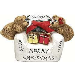 Personalized Loving Couple Bears Christmas Chair
