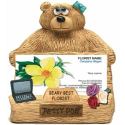 Personalized Business Card Holder for Florist