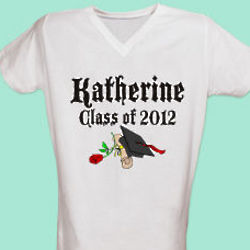 "Diploma & Rose ""Class Of"" Personalized Graduation Nightshirt"