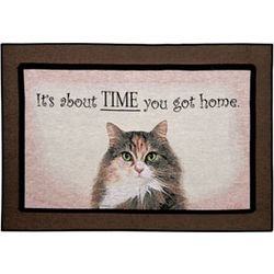 It's About Time You Got Home Cat Rug