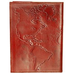 Cruelty Free Leather World Map Journal