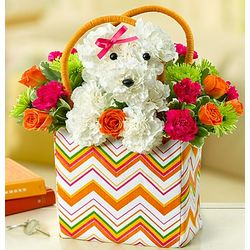 a-DOG-able in a Tote Floral Arrangement