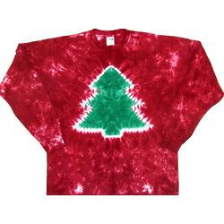 Christmas Tree Tie Dye Shirt