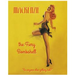 Personalized Fiery Bombshell Pin-up Poster