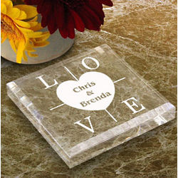 Personalized Heart of Love Paperweight