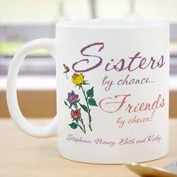 Sisters by Chance Ceramic Coffee Mug