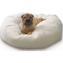 Nuzzle Nest Beige Sherpa Pet Bed