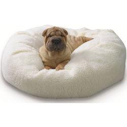 Nuzzle Nest Beige Sherpa Pet Bed