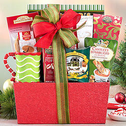 Holiday Tea and Cocoa Gift Basket