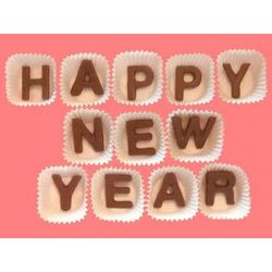 Happy New Year Milk Chocolate Letters