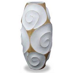 White Melody of Art Wood Vase
