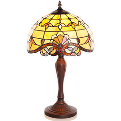 Amber Tiffany Memory Lamp