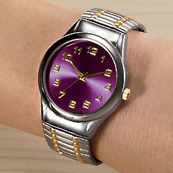 Mood-Dial Two-Tone Stretch Watch