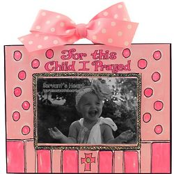 For This Child I Prayed Girl Photo Plaque
