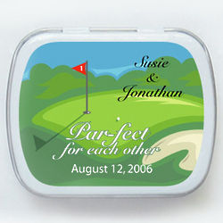 Golf Collection Wedding Mint Tin Favors