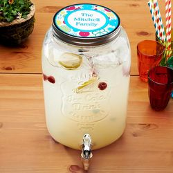 Personalized Family Mason Jar Beverage Dispenser