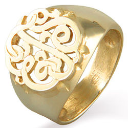 Gold Vermeil Monogram Ring