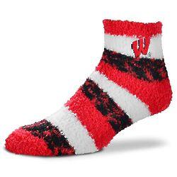 Lady's Wisconsin Badgers Pro Stripe Sleep Soft Socks