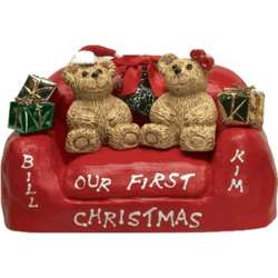 Personalized First Christmas Together Loveseat