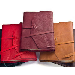 Refillable Italian Leather Calf Skin Journal