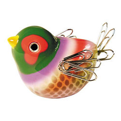 Chirping Bird Paper Clip Holder