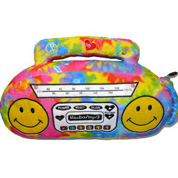 Boombox Pillow with Radio, MP3 Player & Speakers