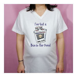 Bun in The Oven Personalized Maternity Nightshirt