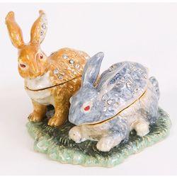 """Best Bunnies"" Rabbit Friends Trinket Box"