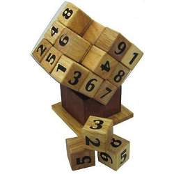 Wooden Sudoku Cube Puzzle Game